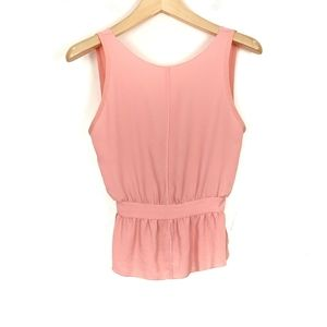 Aritzia Wilfred Sleeveless Scoop Back Peplum Top